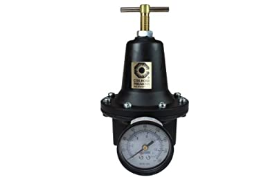 Coilhose Pneumatics 8808GH Heavy Duty Series Regulator, 1-Inch Pipe Size with Gauge and High Pressure Spring (0-200 PSI)