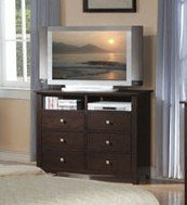 Cheap Bedroom TV Stand Storage Chest in Cappuccino Finish (VF_F4576)