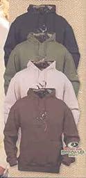 Browning Men\'s Camo Buckmark Hoodie, CHESTNUT, M