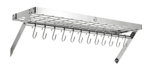 Hahn Large Wall Rack, Chrome