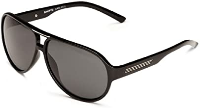 Sunoptic SP114 Aviator Men's Sunglasses Black One Size