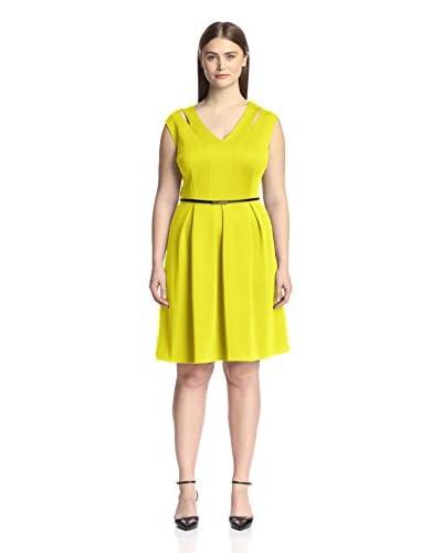 Sandra Darren Plus Women's Pleated Fit-and-Flare Dress