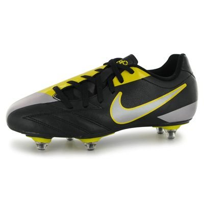 Nike Total 90 Shoot IV SG Junior Football Boots Black/Yellow 4 UK UK