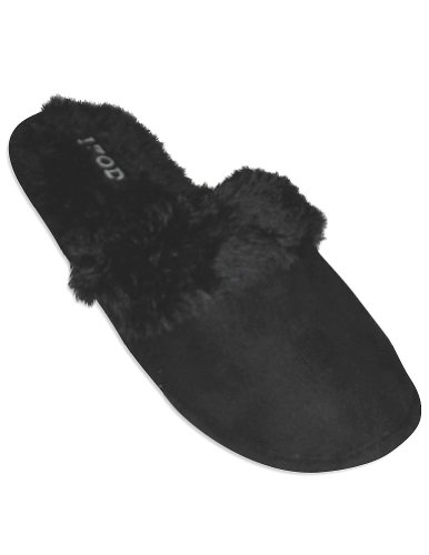 Cheap Izod – Ladies Slipper, Black 27595 (B0064DR61S)
