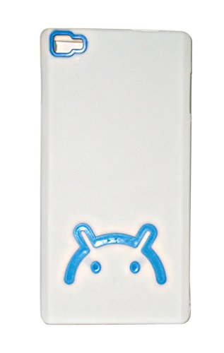 ECellStreet Xolo Hive 8X 1000 Android Logo Smiley Soft Back Case Cover Back Cover Blue In White