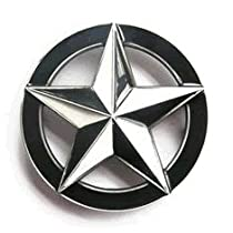 Nautical Star Black White Belt Buckle