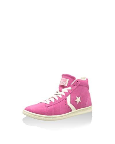 Converse Sneaker Star Player Pro Lea Pink Wn Hi [Rosa/Bianco]