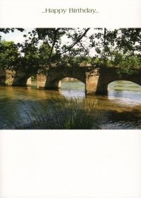 "Bild Alte Karte, Pferd Bridge """