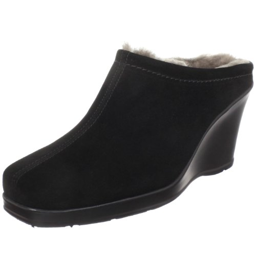 La Canadienne Women's Ivy Shearling Clog,Black,10 M US
