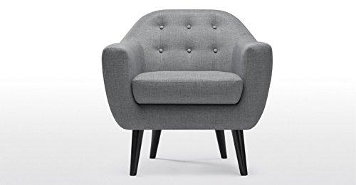 FabHomeDecor Adele Single Seater Sofa (light grey)