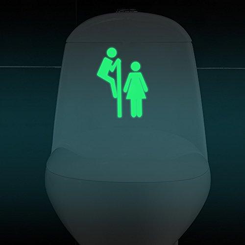 HENGSONG Lumineux Stickers Salle de bain WC autocollants