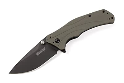 Kershaw 1870OLBLK Knockout Folding Knife with SpeedSafe, Olive/Black by Kershaw Sporting Goods :: Combat Knife :: Tactical Knife :: Hunting Knife :: Fixed Blade Knife :: Folding Blade Knife