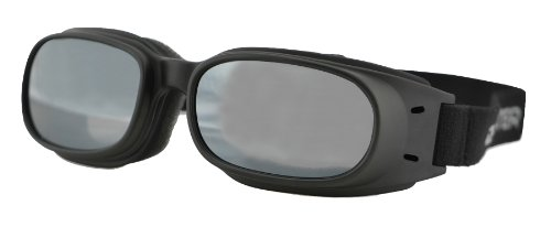 Bobster Piston Goggles,Black Frame/Smoked Reflective Lens,one size