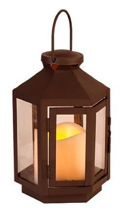 Star lanterne led couleur noir 1 bougie fonctionne - Fonctionne avec des piles 94 ...