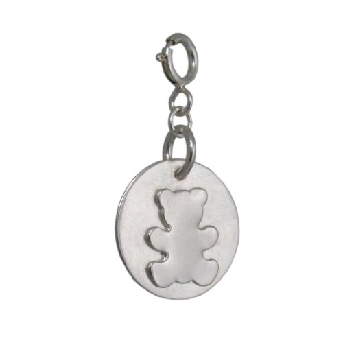 Handmade 925 Sterling Silver Teddy Bear Charm for Children - FREE Delivery in UK Gift Wrapped Gifts