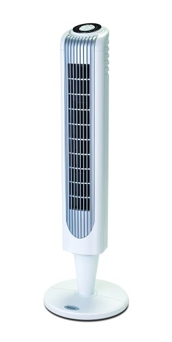 Holmes HT38R Oscillating Pedestal Tower Fan with Remote Control, White
