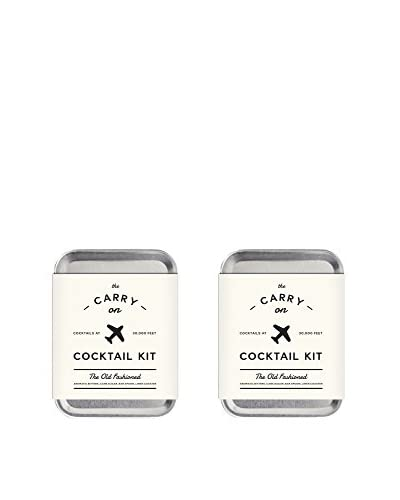W&P Design Set of 2 Old Fashioned Carry on Cocktail Kits