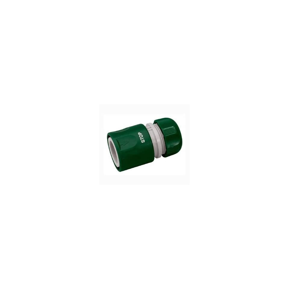 Draper 1/2 Garden Hose Connector With Water Stop Feature