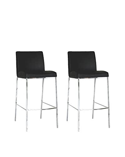 Baxton Studio Set of 2 Counter Stools, Black