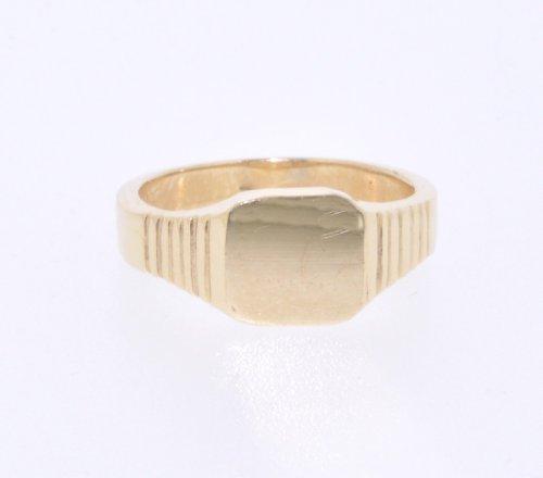 14K Yellow Gold Baby Signet Ring