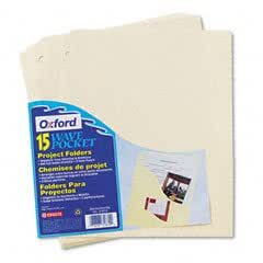 Pendaflex Slash Pocket Project Folders, Jacket, Letter, Manila, 15/Pack (31870)