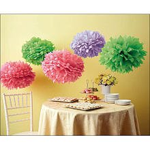 Martha Stewart Crafts Pom Poms, Color Burst, 2 Sizes