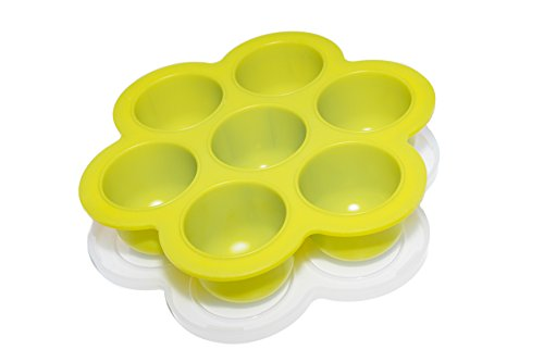 Exclusive MADE-IN-USA - Popfex Silicone Storage Container and Freezer Tray with Lid for Homemade Baby Food and More - BPA Free, Premium 100% FDA Food Grade Silicone - Supports US Jobs