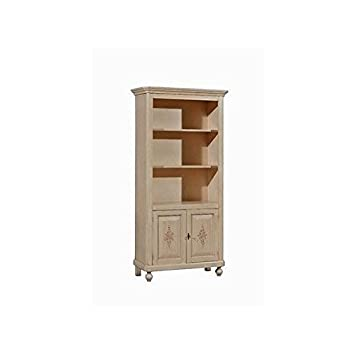LIBRERIA LEGNO DECORATO A MANO DIPINTO ANTICATO COUNTRY COLLECTION