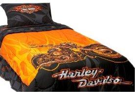 Harley Davidsonv Flames Twin Comforter