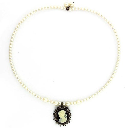 Kimberly's Cameos Coil Choker Gold Plated
