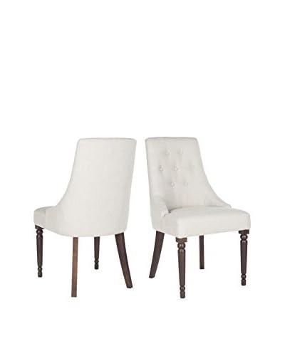 Safavieh Set of 2 Annabel Kd Dining Chair, Beige