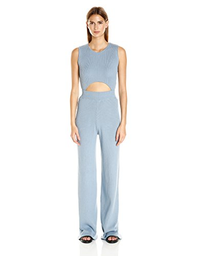 Baja-East-Womens-Stretch-Cotton-Rib-Cut-Out-Jumpsuit