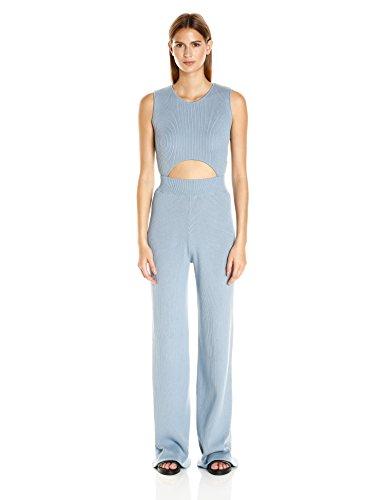 Baja-East-Womens-Stretch-Cotton-Rib-Cut-Out-Jumpsuit