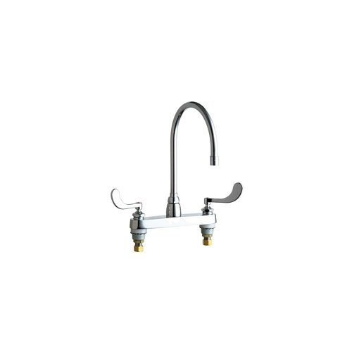 Chicago Faucets 1100-GN8AE35-317AB Commercial Grade High Arch Kitchen Faucet wit, Chrome