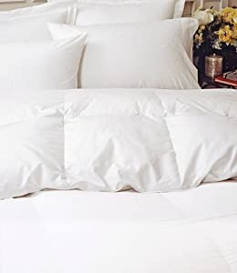 Premium 700 Baffle Box Heavy Weight White Down Comforter White Queen