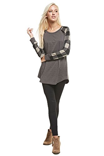 shopglamla-french-terry-long-sleeves-tunic-plaid-raglan-top-macy-charcoal-s