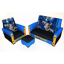 Warner Brothers Batman 3 Piece Toddler Sofa Set by Newco International Inc