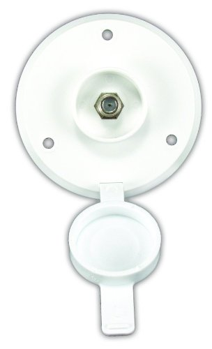 Jr Products 476-B-2-A Polar White Cable Tv Plate