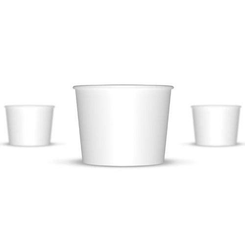 12 oz Paper Hot / Cold Ice Cream Cups - 100ct (White) (Paper Ice Cream Cups 12 Oz compare prices)