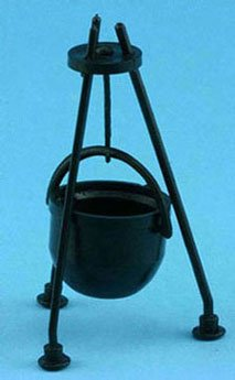 Dollhouse Cauldron 3 1/4in