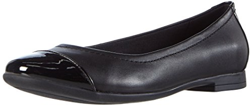 ClarksAtomic Haze - Ballerine Donna , Nero (Schwarz (Black Combi Leather)), 41 EU