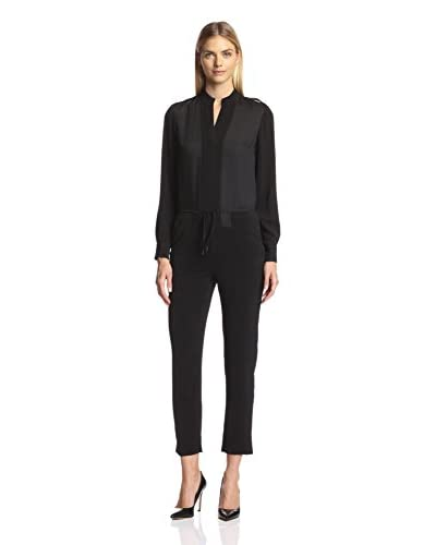 Halston Heritage Women's Long Sleeve Jumpsuit