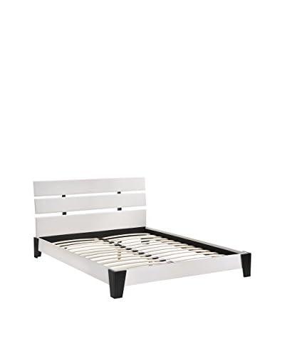 Modway Zoe Queen Vinyl Bed Frame, White