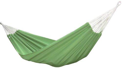 Vivere Brazilian Style Sunbrella Double Hammock, Paraiso front-413361