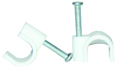 Voltman VOM512217 Box of 20 Cable Clips Diameter 8 mm White