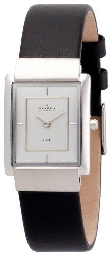 SKAGEN (スカーゲン) 腕時計 basic leather ladys J224SSLB ケース幅: H26mm×W22mm Ultra Slim レディース [正規輸入品]