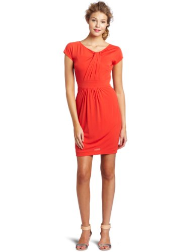 Trina Turk Women's Perpetua Matte Jersey Dress, Caliente, 6