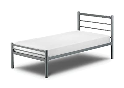 Alpen Metal Aluminium Finish Bed With Luxury Spring Mattress: All Sizes Available