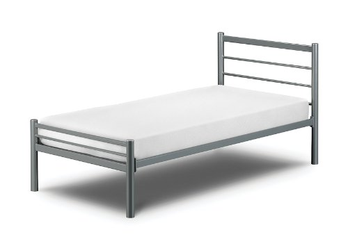Amazing Happy Beds Alpen u Small Double Metal Aluminium Finish Bed With Orthopaedic Mattress