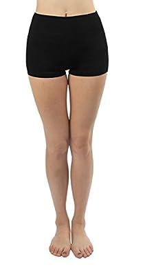4How Womens Tight Capris Yoga Legging Short Black US S(ships from US )